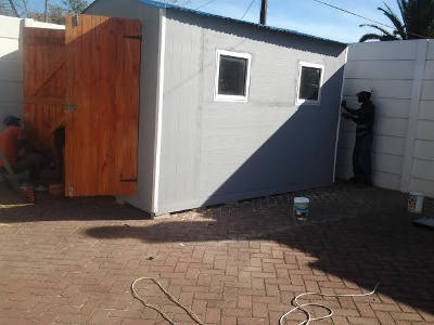 Nutec shed with double doors
