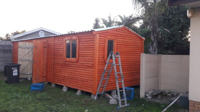 Garden shed with double doors