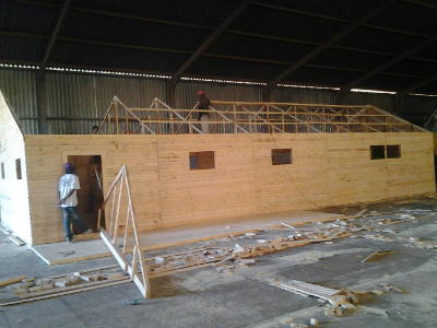 Large site office being built