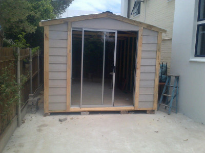 Nutec Wendy house with patio doors
