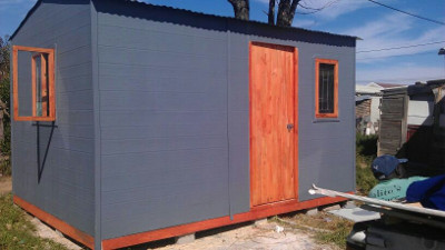 Small painted Nutec Wendy house